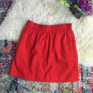 J.crew city mini skirt elastic band pockets